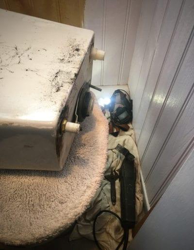 Cutting a cistern free